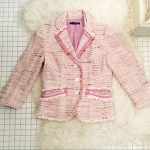 The Limited Tweed Blazer Style Jacket